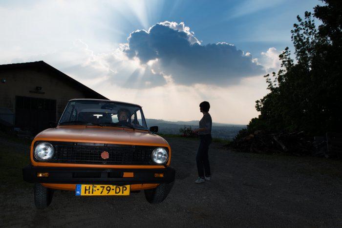 reclame fotoshoot met Robert Kranenborg in Italië voor NZO